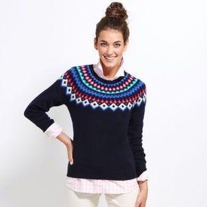 Vineyard vines yoke fairisle sweater